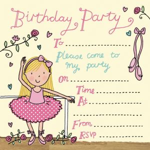 Ballet Dancer Party Invitation